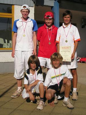 Unsere Erfurter Jungs: Philip Schildhauer (o.li.); Max Ziegler (o. mi.); Mark Staniszewski (o. re.) und Niklas Staniszewski (u. re.)