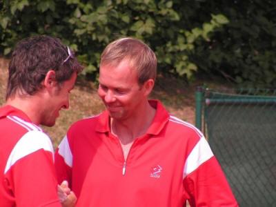 Mannschaftsführer Martin Spelda und Jürgen Waber