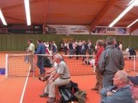 Zuschauer während des Spiels gegen Krefeld im Sportpark Johannesplatz