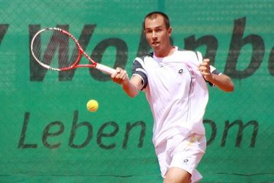 Lukas Rosol im Spiel gegen Mannheim (Foto: J. Teichmann)