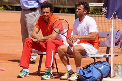 Younes El Aynaoui und Marc Gicquel (Foto: J. Teichmann)