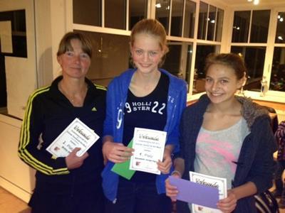 Unsere Siegerinnen bei den Damen: Britta Otte, Elisabeth Junge-Ilges, Leoni Bösel (v.l.n.r.) Foto: B. Junge-Ilges