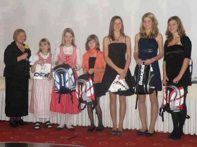 Ehrung der Clubmeister 2010 im Nachwuchsbereich