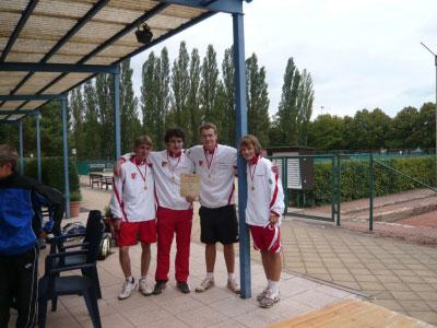 Marc Schwarzwald, Tobias Urbich, Toni Queck und Max Ziegler v.l.n.r.