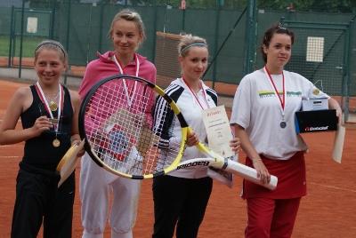 v.l.n.r.: Maria Reinmüller, M.-S. Cole, J. Schmidt, C. Beier Bildquelle: Thüringer Tennisbund