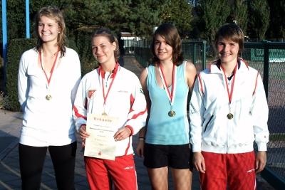 Juniorinnen des ETC (Bildquelle: TTV) v.l.n.r.: Linda Queck, Clara Steiner, Johanna Moritz und Mechthild Lorenz