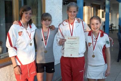 Mädchen des ETC (Bildquelle: TTV) v.l.n.r.: Antonia Hering, Carolin Piniewski, Cäcilia Junge-Ilges und Sophie Rosahl