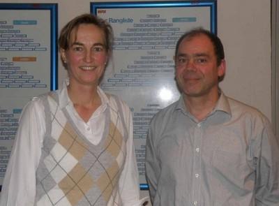 Künftiger und bisheriger Jugendwart: Barbara Junge-Ilges und Gerd Lenuzza